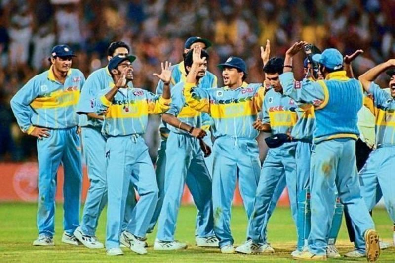 1996 Indian World Cup Team Sachin Tendulkar