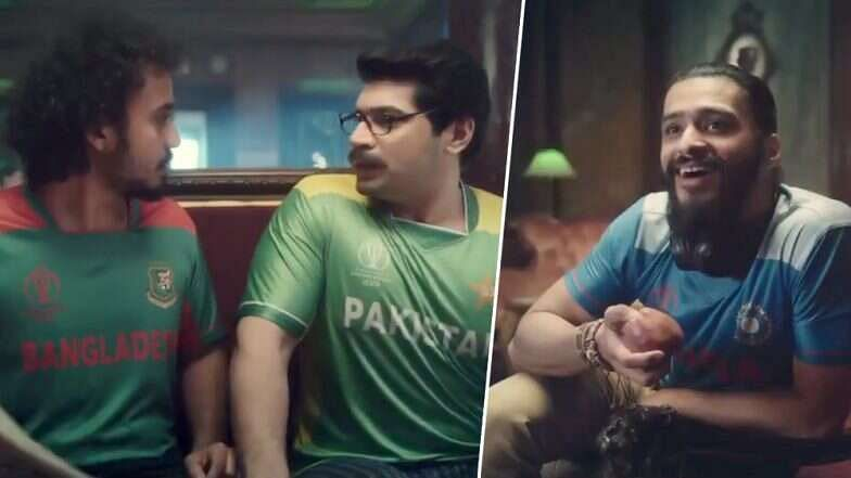 In the new advertisement, a Pakistani fan was shown talking to a Bangladeshi fan. The Pakistani fan said that his dad told him to never give up.