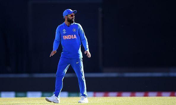 Virat Kohli in action against Afghanistan on Saturday. Enter caption