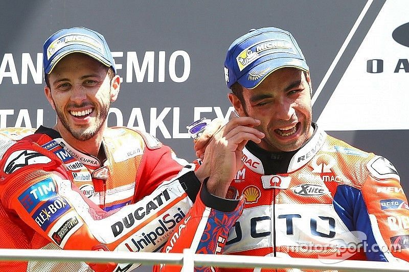 Petrucci won a hard-fought race for Ducati