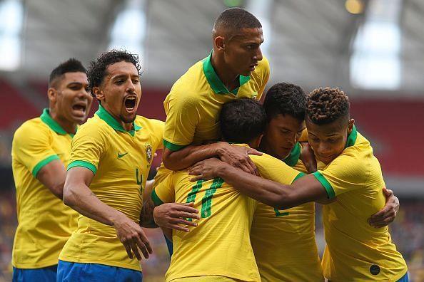 Brazil making easy work of Honduras in a 7-0 friendly win