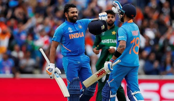 Rohit scored a scintillating hundred against Pakistan