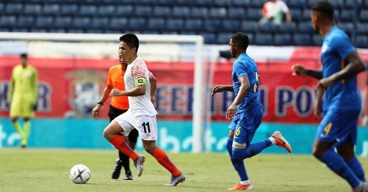 Sunil Chhetri gave India hope for a comeback against Curacao