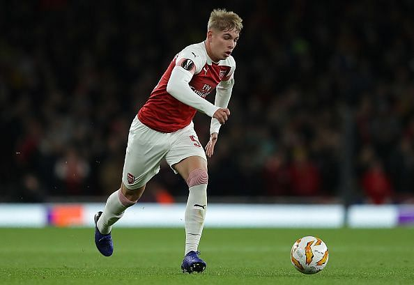 Smith Rowe appeared for Arsenal in the Europa League last season