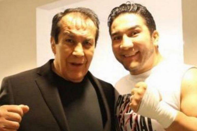 Perro Aguayo and his son, Perro Aguayo, Jr.