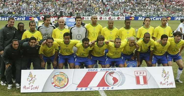 Copa America Tournament Winner Brazil Team