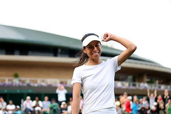 Hsieh Su-Wei had an emphatic win over big-hitting Jelena Ostapenko