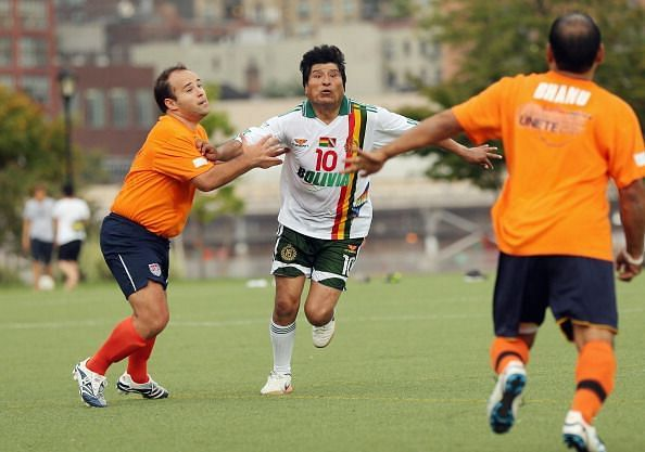 Bolivian Leader Evo Morales Organizes Soccer Game During UN General Assembly In New York