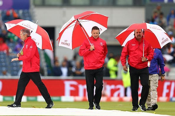 The semi-final between India and New Zealand was halted by rain