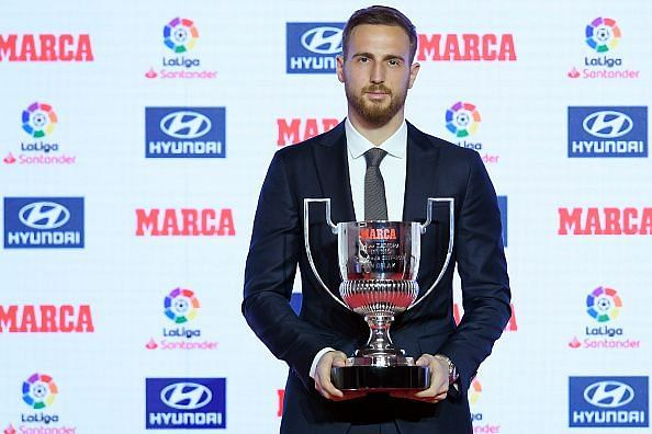 Oblak has won the Zamora trophy four times consecutively