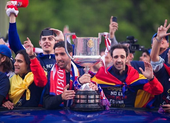 Atletico de Madrid Celebrate Winning Copa del Rey