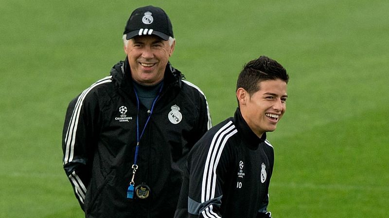 Carlo Ancelotti and James Rodriguez
