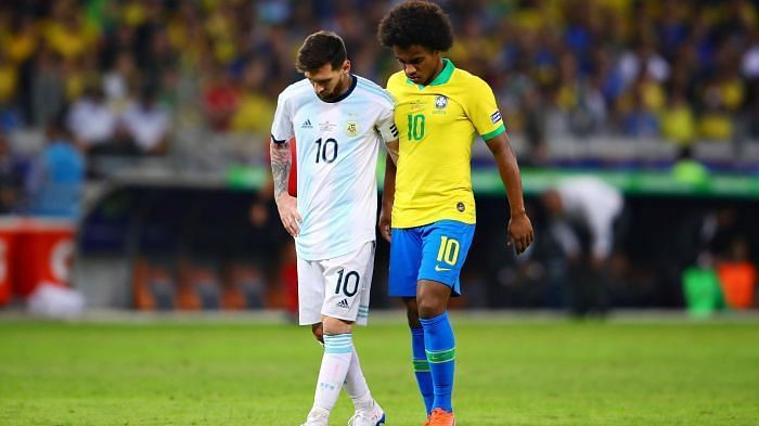 Messi and Willian at Copa América 2019