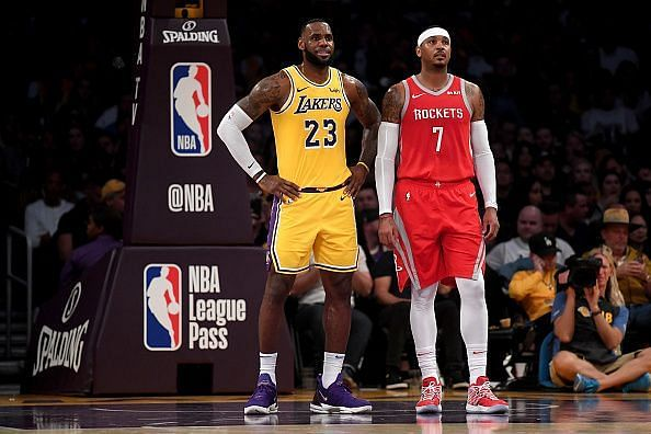 Carmelo Anthony has been continually linked to the Los Angeles Lakers