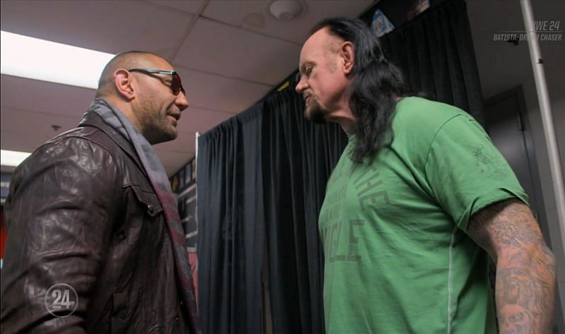 Batista and The Undertaker backstage at SmackDown 1000