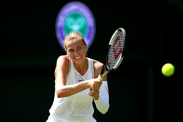 Petra Kvitova came through a potentially-tricky encounter unscathed.