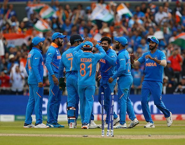 The Indian team at the World Cup