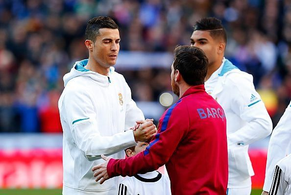 Ronaldo and Messi were among the players shortlisted