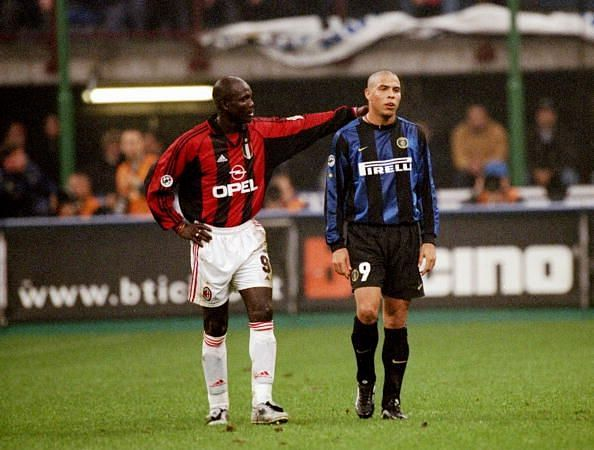 George Weah and Ronaldo