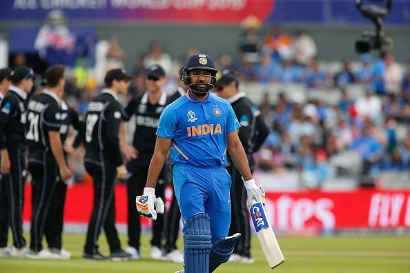 A rare failure by Rohit Sharma meant the middle order had too much to do