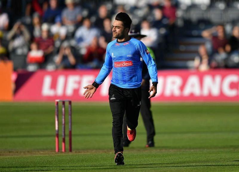 Rashid Khan scored 22 off 7 balls for Sussex