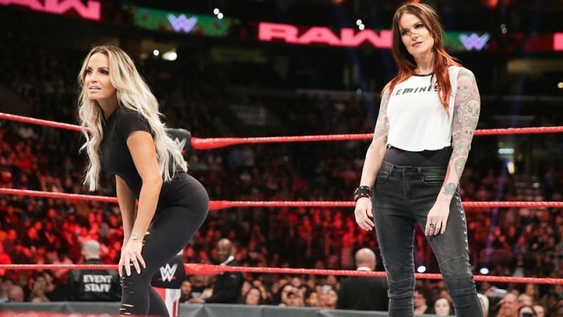 One of fellow legends and peers, Trish Stratus (left) and Lita