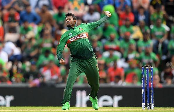 Shakib Al Hasan in action