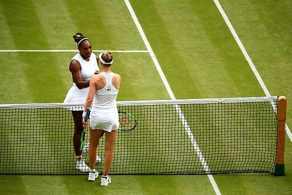 Serena Williams made her way to the semifinals with a win over compatriot Alison Riske.