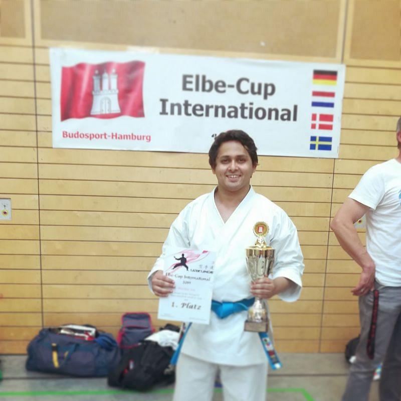Bhaskar winning in ELBE-CUP