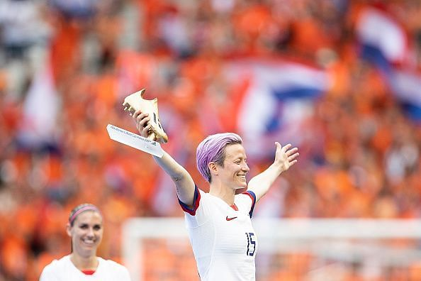 Megan Rapinoe won the Golden Boot and was the tournament