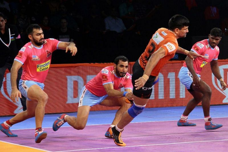 Anup Kumar has the most tackle points for a raider