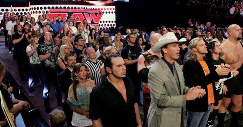The WWE Roster in 2008.
