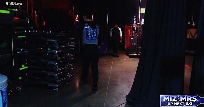 Murphy Walking Backstage