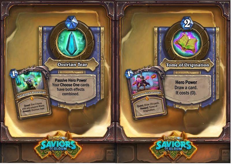 Druid and Warlock quests from the Saviors of Uldum
