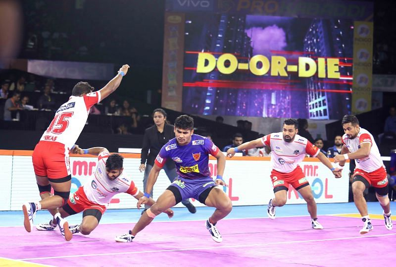 Dabang Delhi K.C. won the match by 41-21