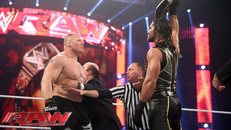 Rollins and Lesnar