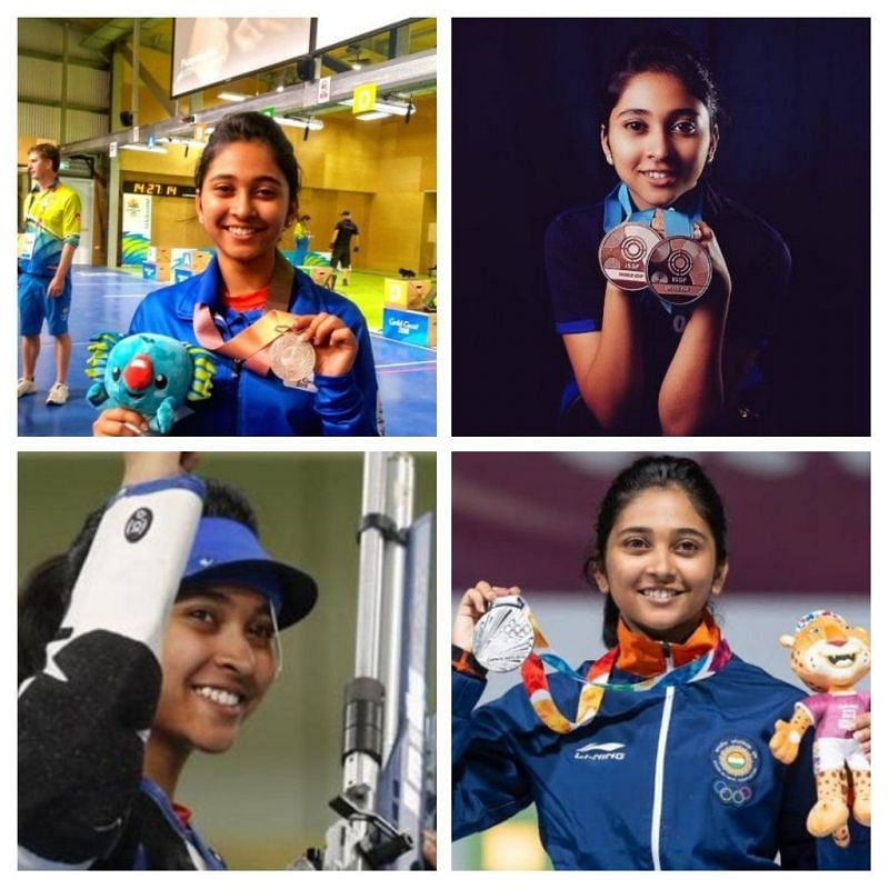 At eighteen, Mehuli Ghosh has already secured podium finishes in major international competitions. Image courtesy: ISSF/IANS/Reuters/@GhoshMehuli (Twitter)