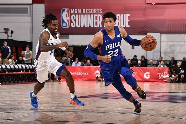 Matisse Thybulle (R) in action during the NBA Summer League