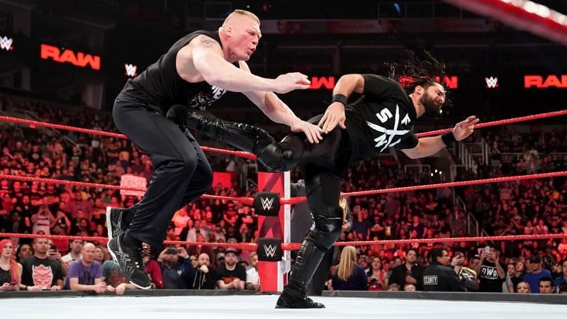 Seth Rollins could kick Brock Lesnar out of the title picture.