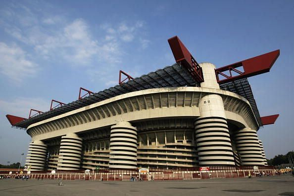 Outside the San Siro Stadium
