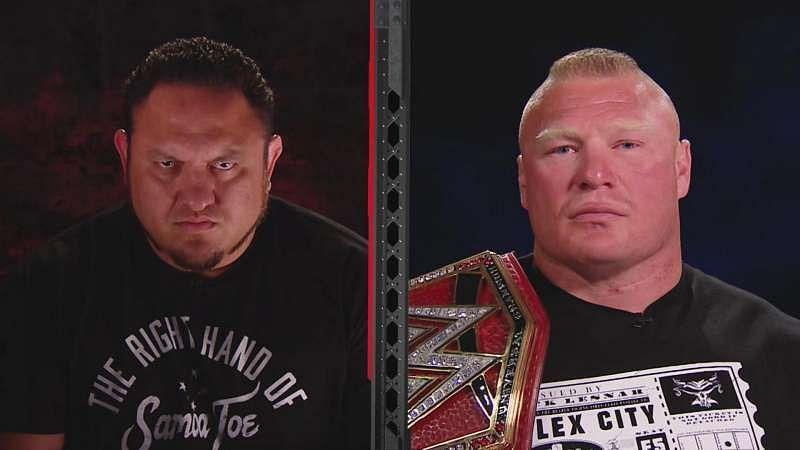 Samoa Joe and Brock Lesnar