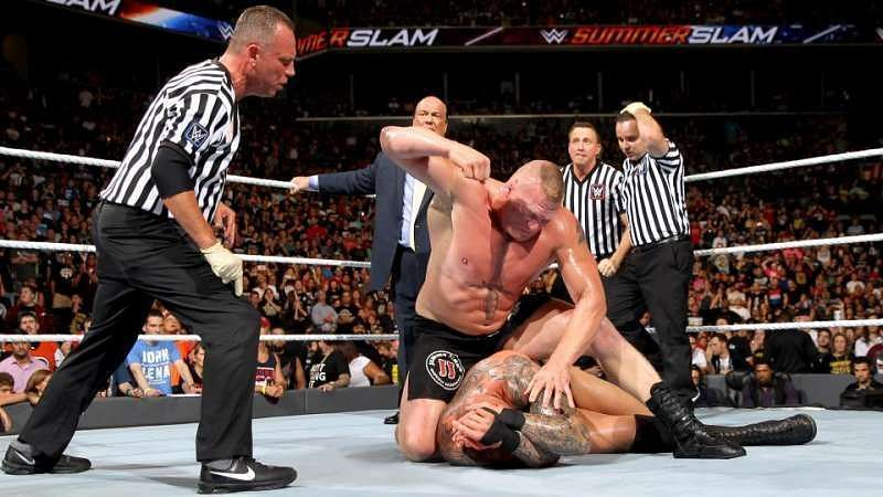 Brock and Orton at SummerSlam 2016