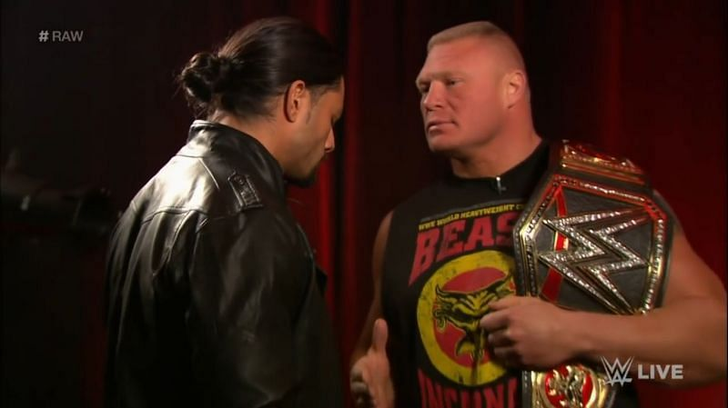 Reigns and Lesnar
