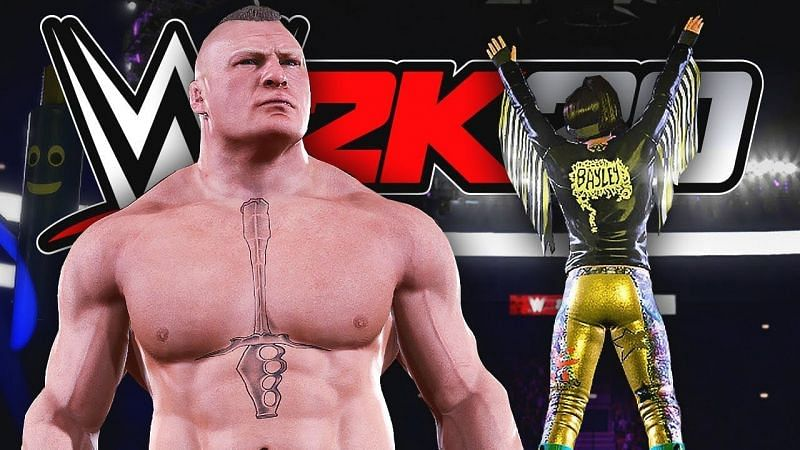 Brock Lesnar and Bayley in WWE 2K20