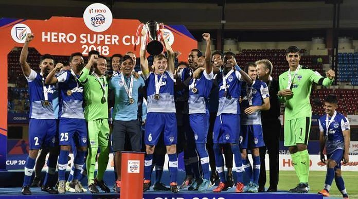 Bengaluru FC won the inaugural edition of the Hero Super Cup in 2018