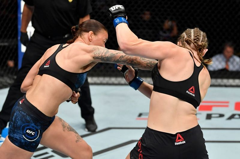 Germaine De Randamie finished Aspen Ladd in just 16 seconds in the main event