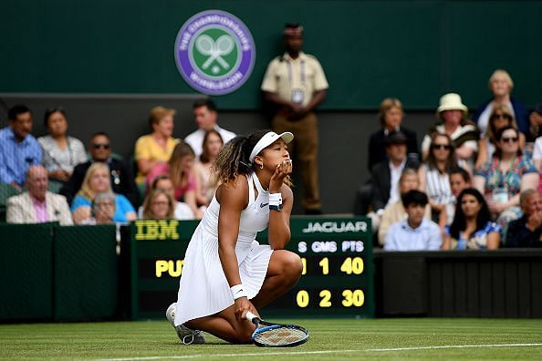 Second seed Naomi Osaka became the first casualty at this year
