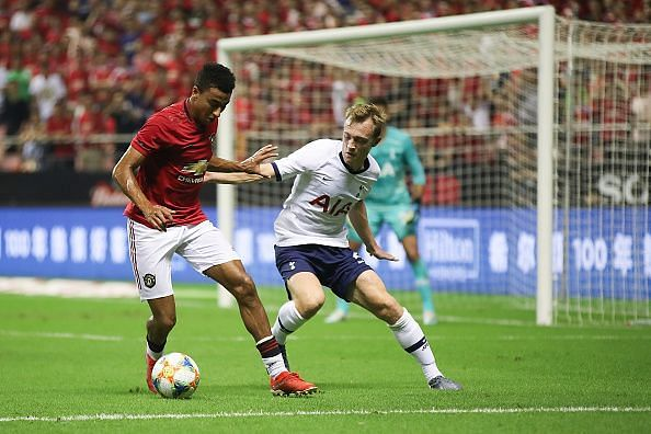 Action from Manchester United