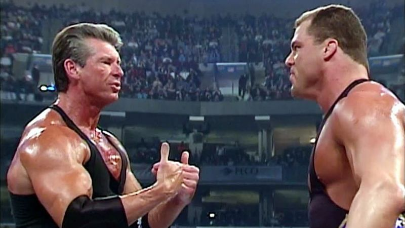 Vince McMahon and Kurt Angle
