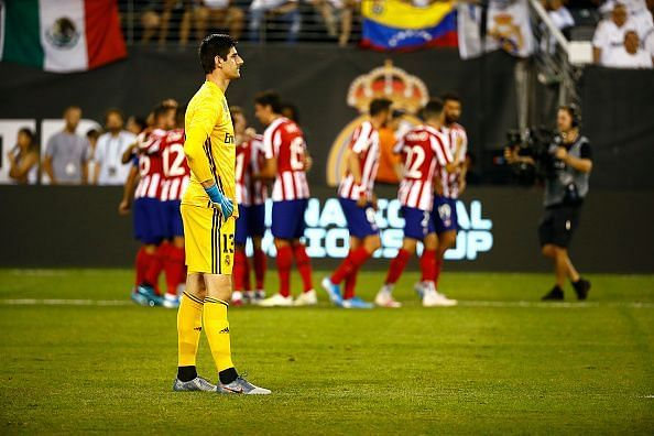 Courtois conceded five goals in the first half